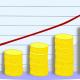 wykres, monety