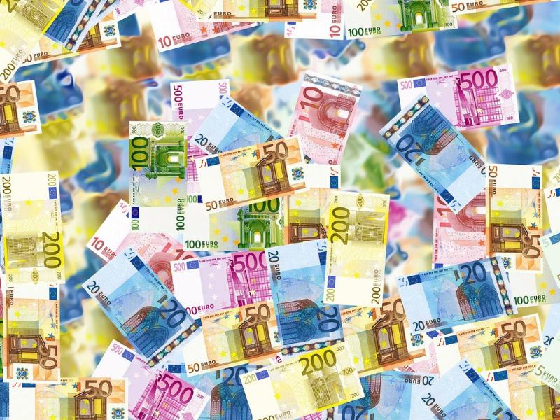 euro, banknoty
