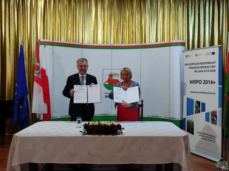 marszałek Woźniak i burmistrz Rybarczyk